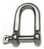 allpa RVS D-sluiting A=Ø8mm B=32mm C=16mm D=32mm (breekkracht 3000kg)
