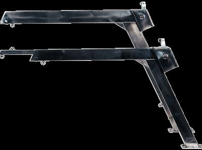 allpa RVS Davit met touw  blok en winch  telescopische uitvoering  300kg  (prijs per stuk)