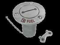 allpa RVS Dekvuldop 'Fuel'  slangaansluiting Ø38mm  flens Ø76mm  0º model