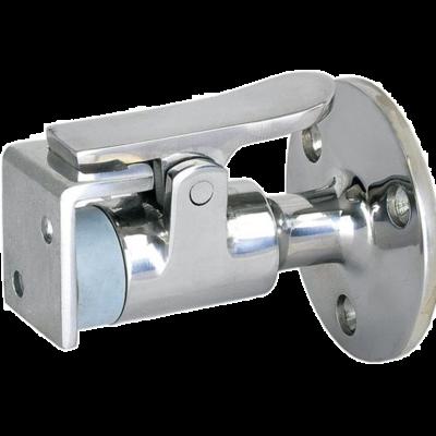allpa RVS Deurstopper/houder  met beugel  A=61mm  B=17mm  C=50mm  D=30mm