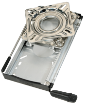 allpa RVS Draaiplateau met aluminium slede (12-standen)