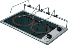 allpa RVS Dubbele panhouderset  500mm tbv keramische kookplaat