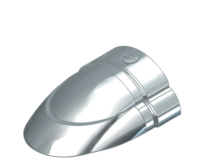 allpa RVS Eindstuk voor Sphaera 25 met PVC base (paar B+C )
