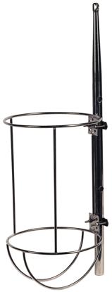 allpa RVS Fenderhouder recht model voor 1 stootwil A=320mm B=585mm (Majoni 6)