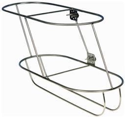 allpa RVS Fenderhouder  schuin model voor 2 stootwillen (links)  (Majoni 6)