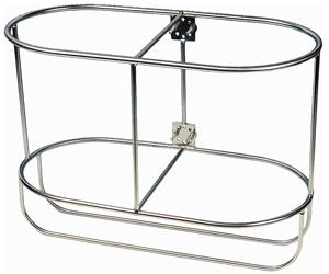 allpa RVS Fenderhouders  recht model voor 2 stootwillen  (Majoni 4)