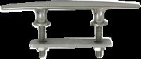 allpa RVS Klamp  boutmontage  A=254mm  B=31mm  C=105mm  D=62mm