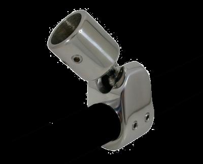 allpa RVS Kogelscharnier afneembaar voor 1 buis (25 4mm) A=25 6mm B=97mm C=25mm