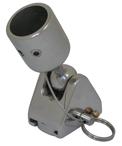 allpa RVS Kogelscharnier afneembaar voor 1 buis (25 4mm)