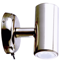 allpa RVS LED-Wand / Leeslamp (mini)  2-zijdig  8-30V/1 2W  LED 2x 1W  H=73mm
