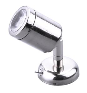 allpa RVS LED-Wand / Leeslamp (mini)  8-30V/1 2W  LED 1x 1W  H=112mm