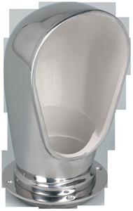 allpa RVS Luchthapper ovaal  inclusief dekplaat (4) & deksel  A=101mm  B=254mm  C=128mm