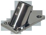 allpa RVS Railingsteun 60° Ø22 25mm met rechte voet 76x43mm