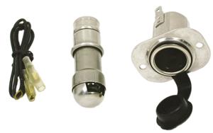 allpa RVS Sigarettenaansteker met verlichting plug aansteker & kabels ingnition 15A solenoid 30A
