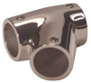 allpa RVS T-stuk rechts Ø22 25mm 60°