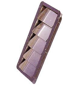 allpa  RVS Ventilatierooster Louvre  305x87x27mm (inbouwmaten)  328x112mm (buitenmaten)