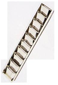 allpa  RVS Ventilatierooster Louvre  505x89x27mm (inbouwmaten)  528x112mm (buitenmaten)
