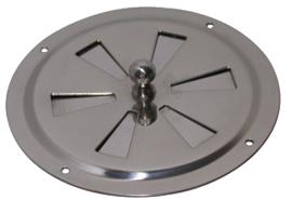 allpa RVS Ventilatierozet met draaischijf  Ø127mm