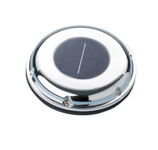 allpa RVS Ventilator op zonne-energie  ±20m³/h  met oplaadbare accu & schakelaar  blaast of zuigt