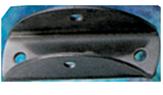 allpa RVS Voet voor buis Ø22 25mm L=45mm