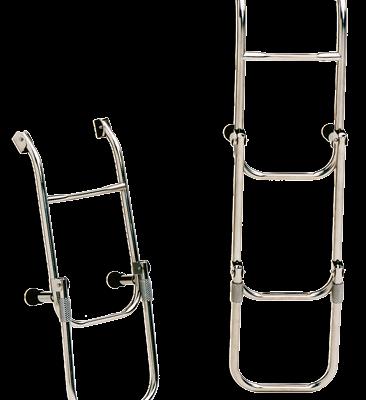 allpa RVS Zwemtrap 3-treden met verstelbare spiegelsteun afm. uitgeklapt 260x700mm buis Ø20mm