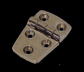 allpa RVS gegoten scharnier  76x38mm  H=5mm  scharnierpen Ø9mm