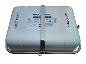 allpa RVS houder met sluitbeugel  dek- of wandmontage  voor 6 persoons container