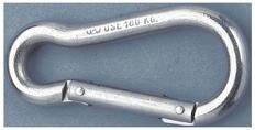 allpa RVS karabijnhaak  Ø5mm  H=50mm (breekkracht 280kg)