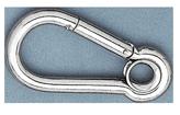 allpa RVS karabijnhaak met oog  Ø7mm  H=70mm (breekkracht 450kg)
