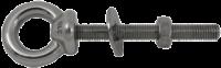 allpa RVS ringbout (schroefoog)  A=100mm  B=10mm  C=42mm  D=145mm