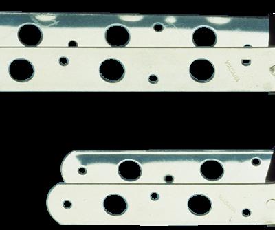 allpa RVS roerbeslag voor pen Ø10mm  L=132mm