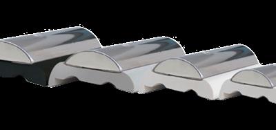 allpa RVS stootlijst Sphaera 35  striplengte 3m  minimale order 12m (prijs per meter)
