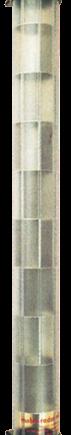 allpa Radarreflector  buisvormig op voet  L=585mm  Ø50mm