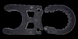 allpa Reserve kunststof klem zwart voor zwemtrap Ø25mm (1)