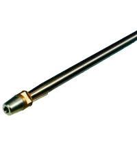 allpa Schroefas RVS AISI 329 Ø25 x 2400mm met dopmoer / zinkanode / spie conus 1:10