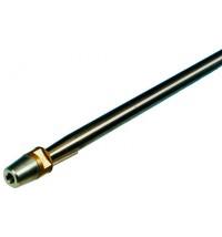 allpa Schroefas RVS AISI 329 Ø55 x 2500mm met dopmoer / zinkanode / spie conus 1:10
