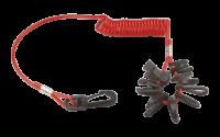 allpa Set Noodstopclips met spiraalsnoer voor de meeste Outboard merken