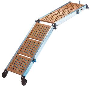 allpa Set aluminium railingsteunen (2x) met touw  voor loopplank (S290/S293-serie)