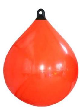 allpa Solid Head buoy  Ø650  L=880mm  oranje met zwarte kop (maat 4)