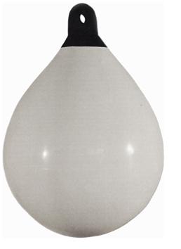 allpa Solid Head buoy  Ø650  L=880mm  wit met zwarte kop (maat 4)