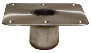 allpa Spring-Lock serie  RVS voet 7x7 (178x178mm)  satin afgewerkt