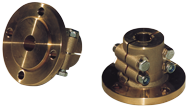 allpa Stalen klemflens met centreerrand  Ø30mm-as  center Ø63 5mm  steek Ø108mm  4x Ø11 5mm