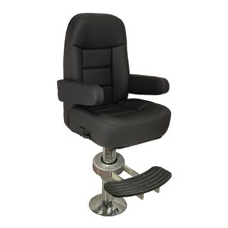 allpa Stuurstoel model Mariner de Luxe  zwart/antraciet vinyl