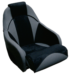 allpa Stuurstoel model Ocean 51 Flip-Up  grijze stof met zwart Alcantara