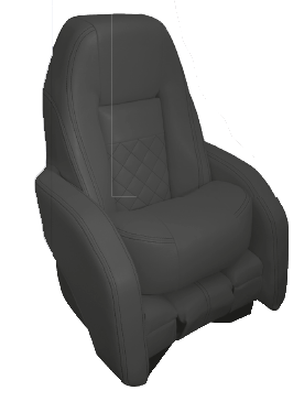 allpa Stuurstoel model Race Pro Flip-Up  antraciet met witte stiksels