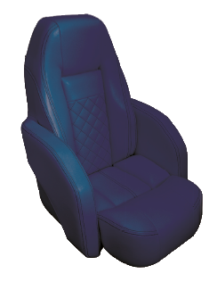allpa Stuurstoel model Race Pro Flip-Up  donkerblauw met witte stiksels