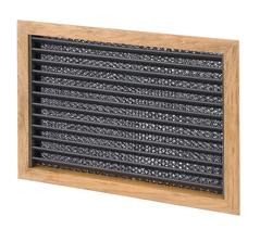 allpa Teak luchtinlaatrooster met filter 254 x 254mm