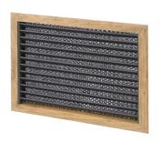 allpa Teak luchtinlaatrooster met filter  254 x 305mm