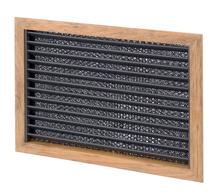 allpa Teak luchtinlaatrooster met filter  279 x 203mm