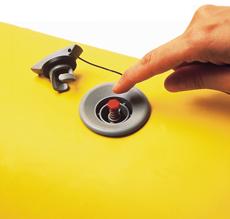 allpa Universeel rubberbootventiel Push-Push compleet met slangnippel